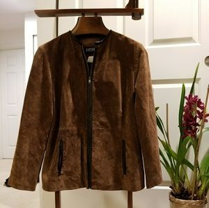 LETTER/SUEDE JACKET  NEW